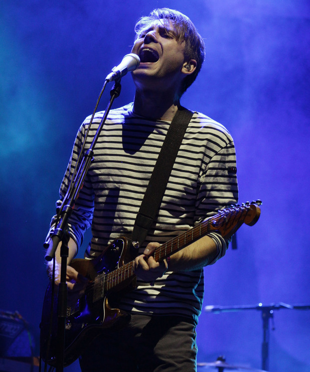 Alex Kapranos of Franz Ferdinand performing on the Main Stage