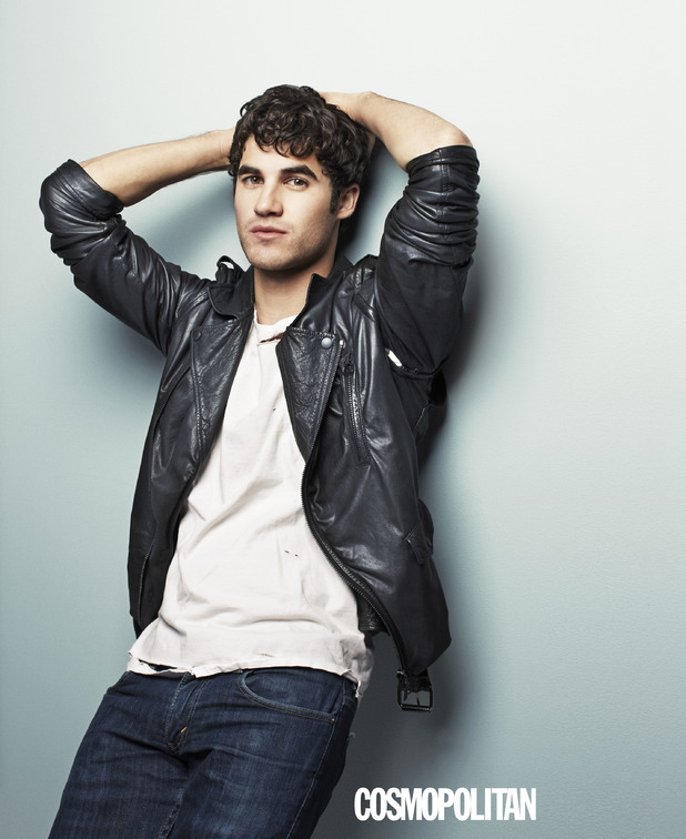 Darren Criss in the October issue of Cosmopolitan.