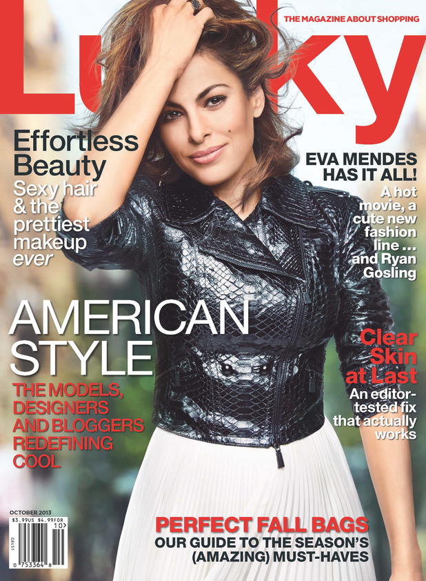 Eva Mendes photo shoot for Lucky magazine