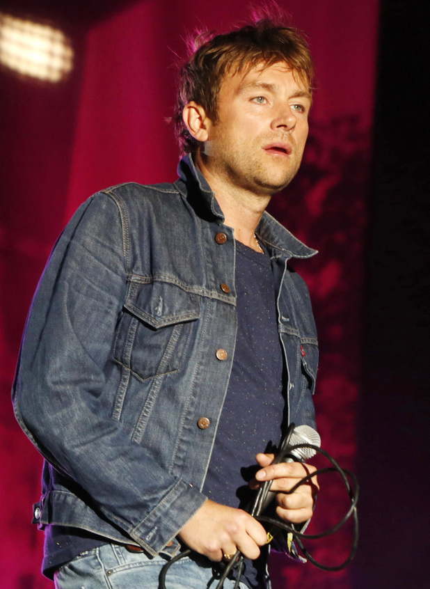 Damon Albarn of Blur performs at the Berlin Festival.