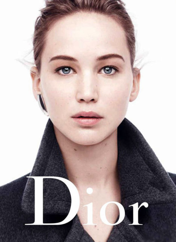 Jennifer Lawrence in the new Miss Dior campaign