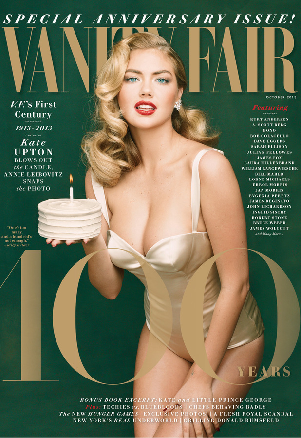 Kate Upton on the Vanity Fair 100th Anniversary issue cover