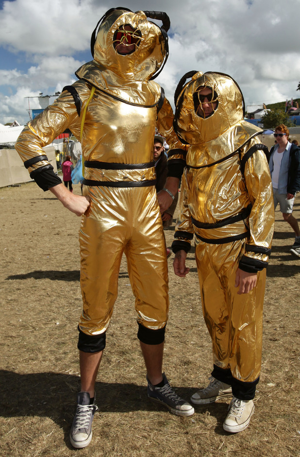 Festival goers in fancy dress descend on Bestival