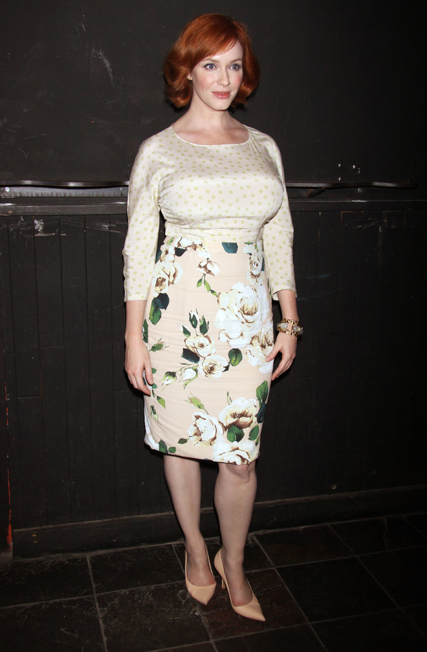 Christina Hendricks Opening night after party for 'Everything Is Ours'