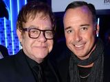 Sir Elton John and David Furnish arriving at the GQ Men of the Year Awards held at the Royal Opera House