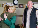 Paddy is surprised to find Vanessa with Rhona.