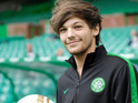 One Direction star turns out for Celtic XI at charity football game in Glasgow.