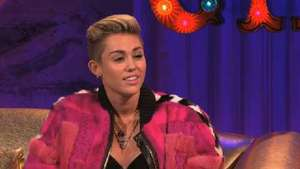 Miley Cyrus on 'Chatty Man' - watch: Miley talks Amsterdam
