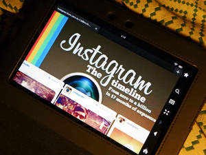 Instagram shown on a tablet