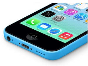 Apple iPhone 5C in blue.