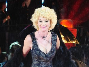 Lauren Harries is evicted from the Big Brother House during Celebrity Big Brother Summer 2013 final.