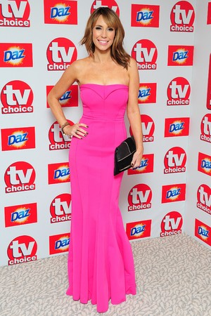 Alex Jones arriving for the 2013 TV Choice awards at the Dorchester Hotel, London.