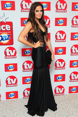 Binky Felstead arriving for the 2013 TV Choice awards at the Dorchester Hotel, London.