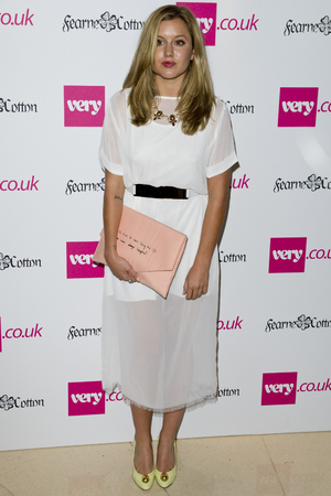 Caggie Dunlop arriving at the launch of Fearne Cotton's Spring/Summer 2014 range for Very.co.uk, at Claridge's in central London.