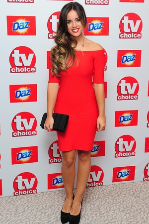 Georgia May Foote arriving for the 2013 TV Choice awards at the Dorchester Hotel, London.