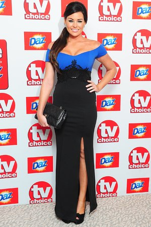 Jessica Wright arriving for the 2013 TV Choice awards at the Dorchester Hotel, London