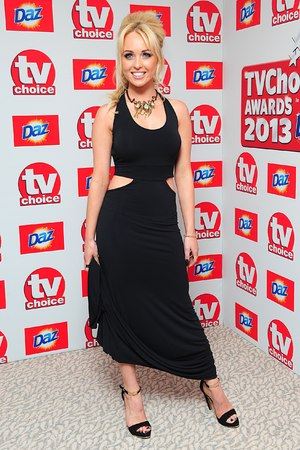 Jorgie Porter arriving for the 2013 TV Choice awards at the Dorchester Hotel, London