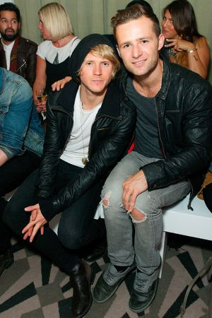 Fearne Cotton launches SS14 fashion collection for very.co.uk, London, Britain - 12 Sep 2013 Dougie Poynter and Harry Judd 12 Sep 2013