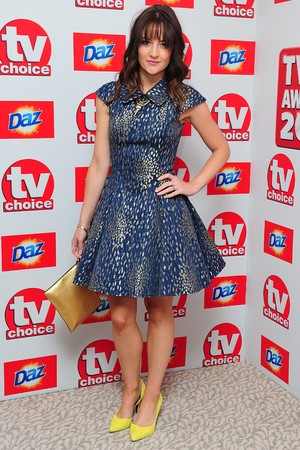 Paula Lane arriving for the 2013 TV Choice awards at the Dorchester Hotel, London.