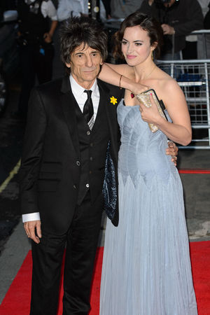 Ronnie Wood and Sally Humphries arriving at the inaugural Tusk Conservation Awards at the Royal Society, London.