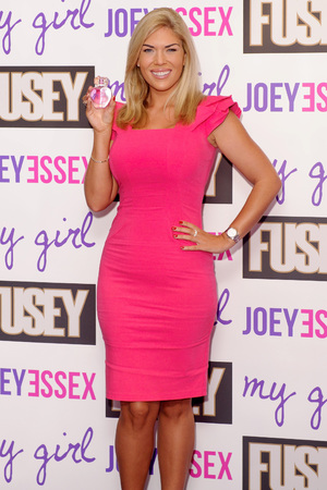 Frankie Essex attends the launch of 'Fusey' fragrance for men and 'My Girl' fragrance for women