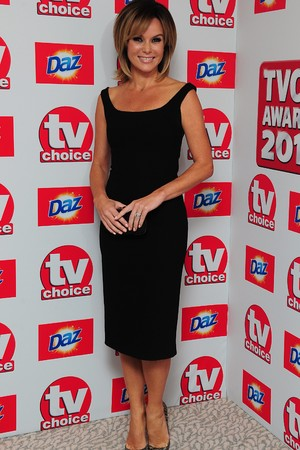Amanda Holden arriving for the 2013 TV Choice awards at the Dorchester Hotel, London.