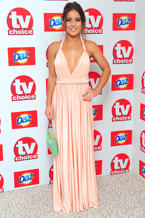 Louise Thompson arriving for the 2013 TV Choice awards at the Dorchester Hotel, London.