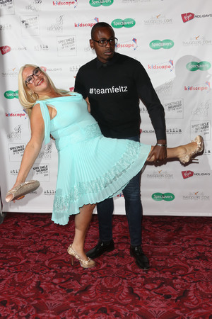 Spectacle Wearer Of The Year Awards, London, Britain - 10 Sep 2013 Vanessa Feltz and boyfriend Ben Ofoedu