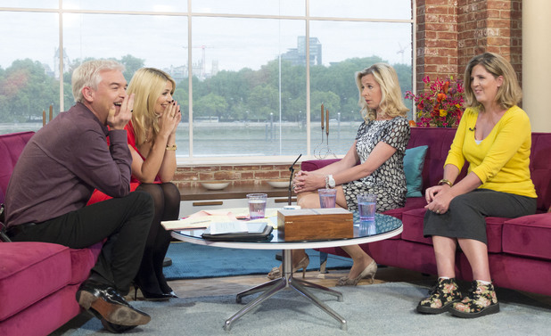 Phillip Schofield and Holly Willoughby with Katie Hopkins and Shona Sibary on This Morning