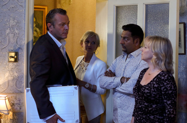 Carol and Masood are intrigued by David and Naomi.