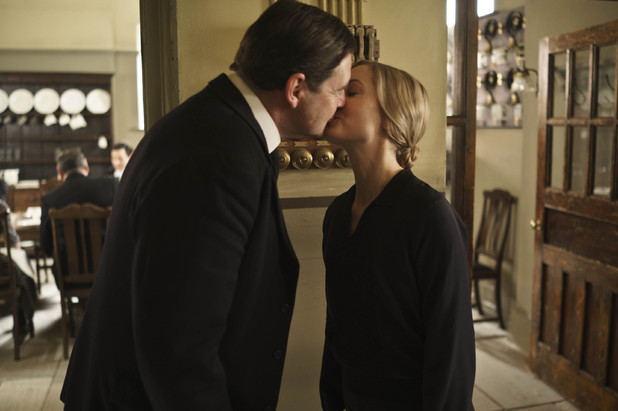 Brendan Coyle as Bates and Joanne Froggatt as Anna in Downton Abbey series 4.