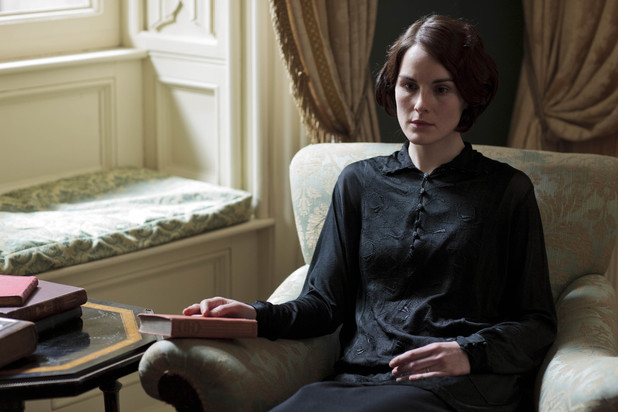 Michelle Dockery as Lady Mary in Downton Abbey series 4.
