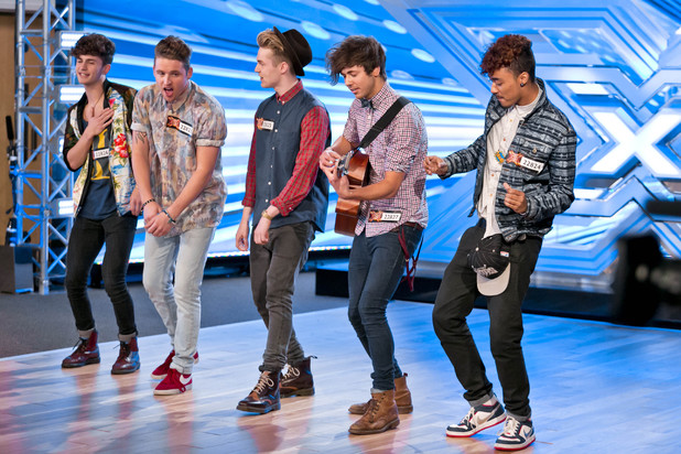 Kingsland performing on The X Factor 2013.
