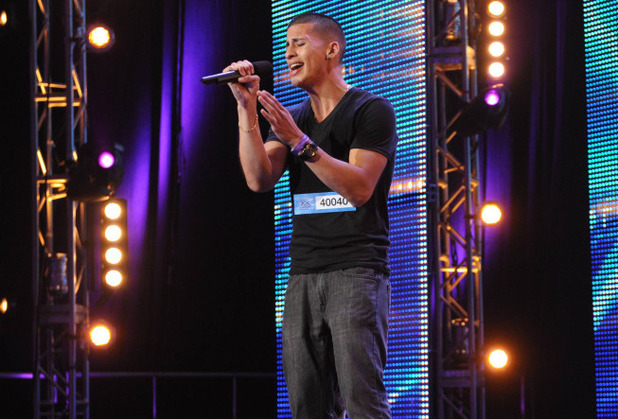 The X Factor USA S03E01: Carlito Olivero pefrorms in front of the Judges