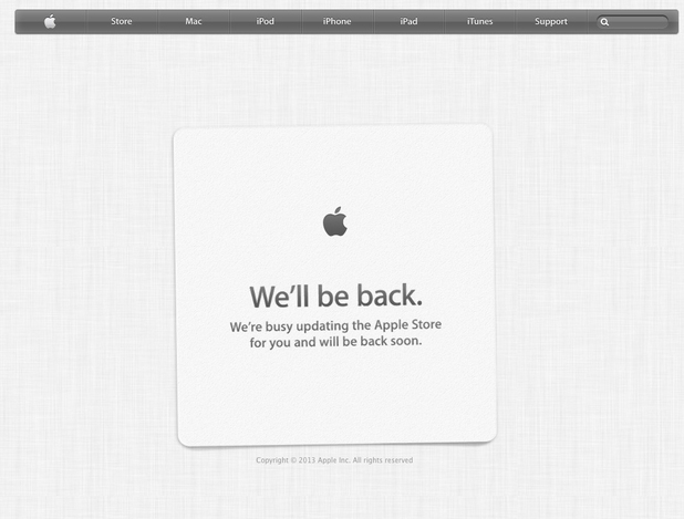 Apple Store closed ahead of new iPhone launch