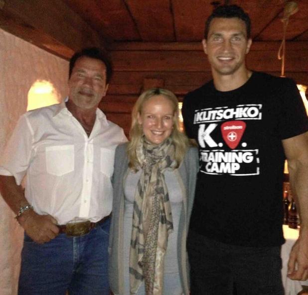 Arnold Schwarzenegger and Wladimir Klitschko meet