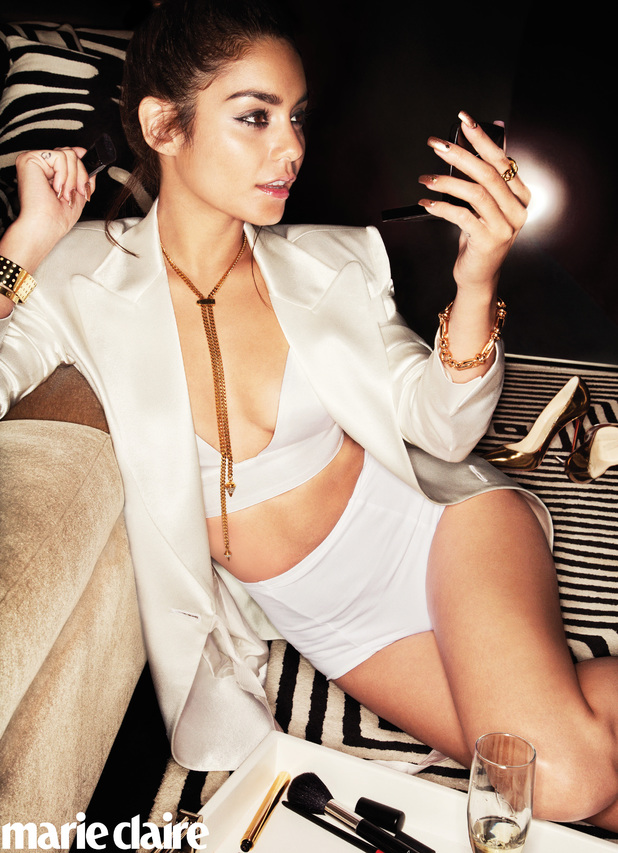 Vanessa Hudgens poses for 'Marie Claire'