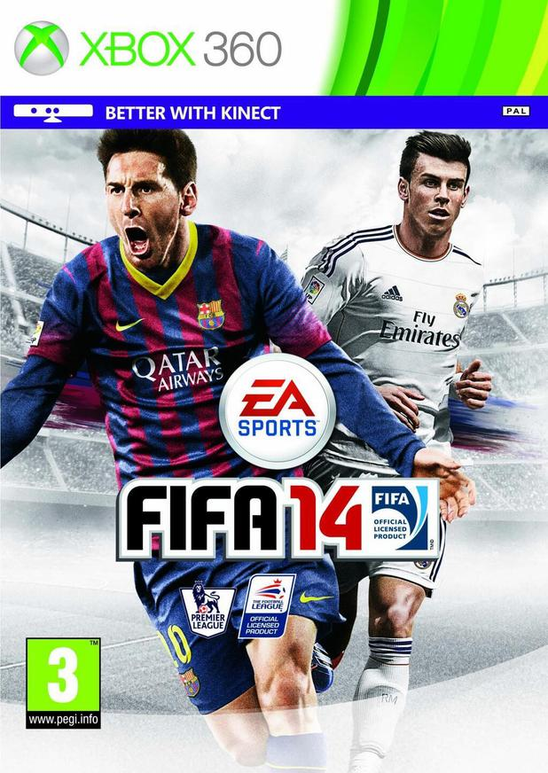 FIFA 14 Gareth Bale Real Madrid cover
