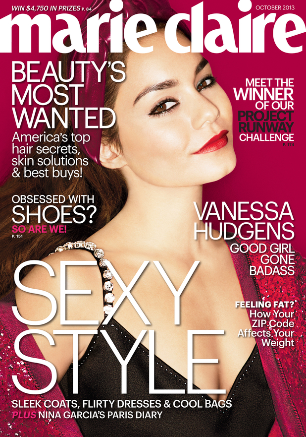 Vanessa Hudgens on the front cover of 'Marie Claire' October