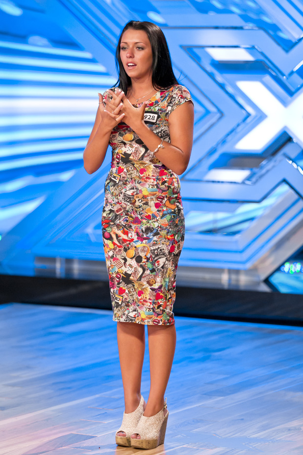 Stephanie Woods performing on The X Factor 2013.