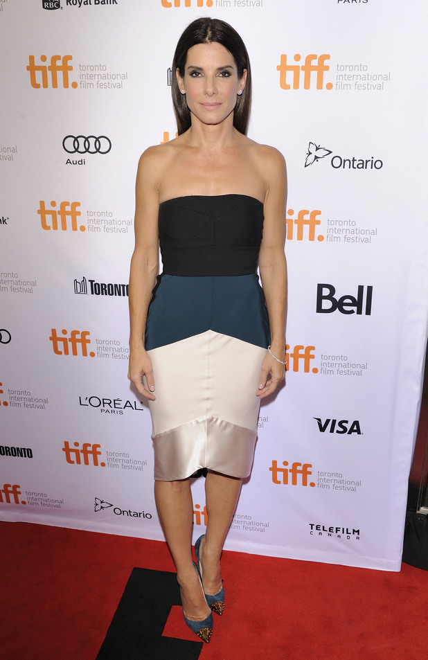 Gravity - TIFF 2013 Red Carpet Arrival Caption: 	Gravity premiere at the Princes of Wales Theatre during the 2013 Toronto International Film Festival PersonInImage: 	Sandra Bullock