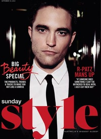 Robert Pattinson covers Australia's 'Sunday Style'