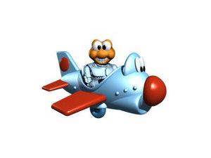 Robocod aeroplane.