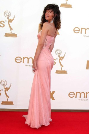 Paz de la Huerta arrives at the 63rd Primetime Emmy Awards on Sunday, Sept. 18, 2011 in Los Angeles