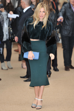 Burberry Prorsum show, Spring Summer 2014, London Fashion Week, Britain - 16 Sep 2013 Sienna Miller