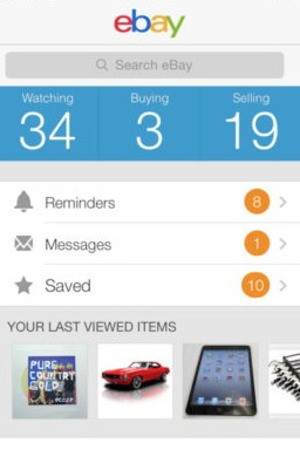'eBay' app screengrab.