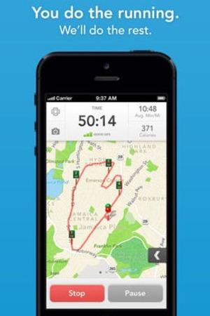 'Runkeeper' app screengrab.