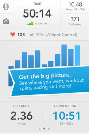 'Runkeeper' app screengrab.