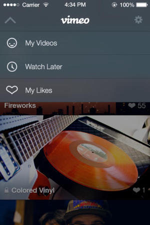 Vimeo app for iOS 7