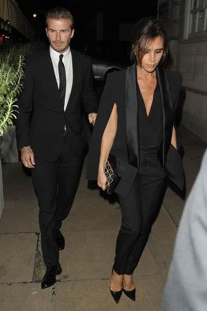 Global Fund and British Fashion Council Party Victoria Beckham, David Beckham